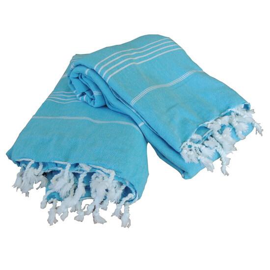 XL Turkish towel De La Mer Turquoise 150x215 cm 100% Cotton