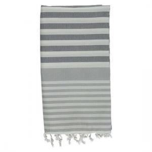 Hamam Handduk Charcoal Grey - Silver Grey Strandbadlakan