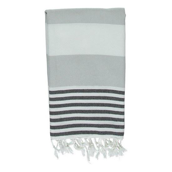 Hamam Handduk Ladon Silver Grey Black Hamamhandduk Strand Badlakan