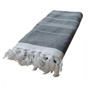 Hamam Handduk med Frotté De La Mer Svart