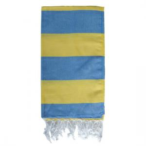Turkish Towel Sweden Blue - Yellow Travel, beach, Spa Towel