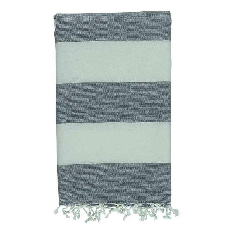 Hammam Towel Tenedos charcoal grey