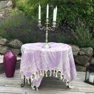 Peshtemal - Fouta - Turkish hammam towel 100x180 cm 100% cotton colour: Lilac OEKO-TEX certified