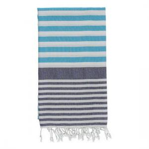 Turkish Towel Navy Blue - Turquoise Travel, beach, Spa Towel