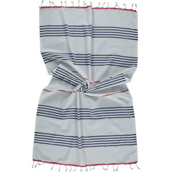 Hamam handduk Sail Marinblå Vit Röd