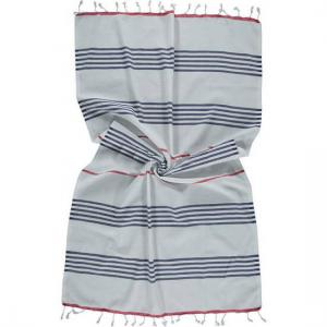 Turkish towel Sail Navy Blue White Red