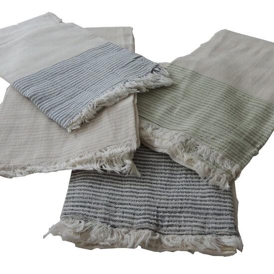Turkish Towel Travel, beach, Yoga Towel with Fringes