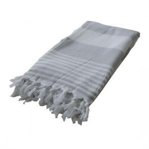 Hamam Handduk Ladon med Frotté Silvergrå Spahandduk Resehandduk
