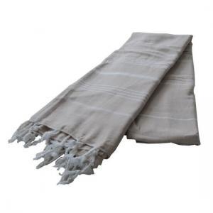 Extra Stor Hamam handduk De La Mer Beige Strandhandduk Badlakan