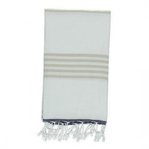 Turkish Towel Sail Navy Blue White Beige Peshtemal Beach Towel Fouta