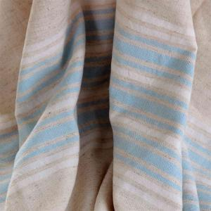 Linen Hammam Towel Sky Blue White Striped