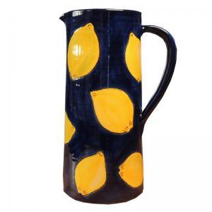 Handmålad stor Spansk keramik karaff för t.ex. vin, vatten eller saft