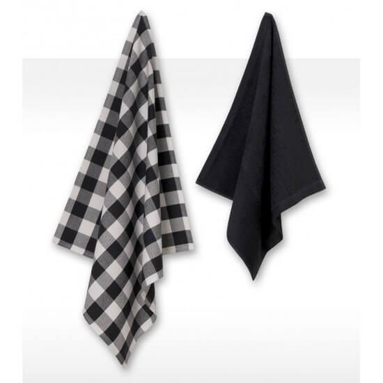Kitchen Towel Set Jorzolino 1+1 Square grey