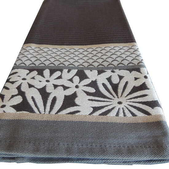 Tea Towel Kitchen Towel Elias Flowers grey