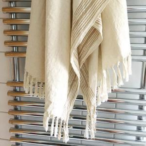 Turkisk Hamamhandduk 100x200 cm av 50% bomull 50% linne färg: Flerfärgad. Handgjord