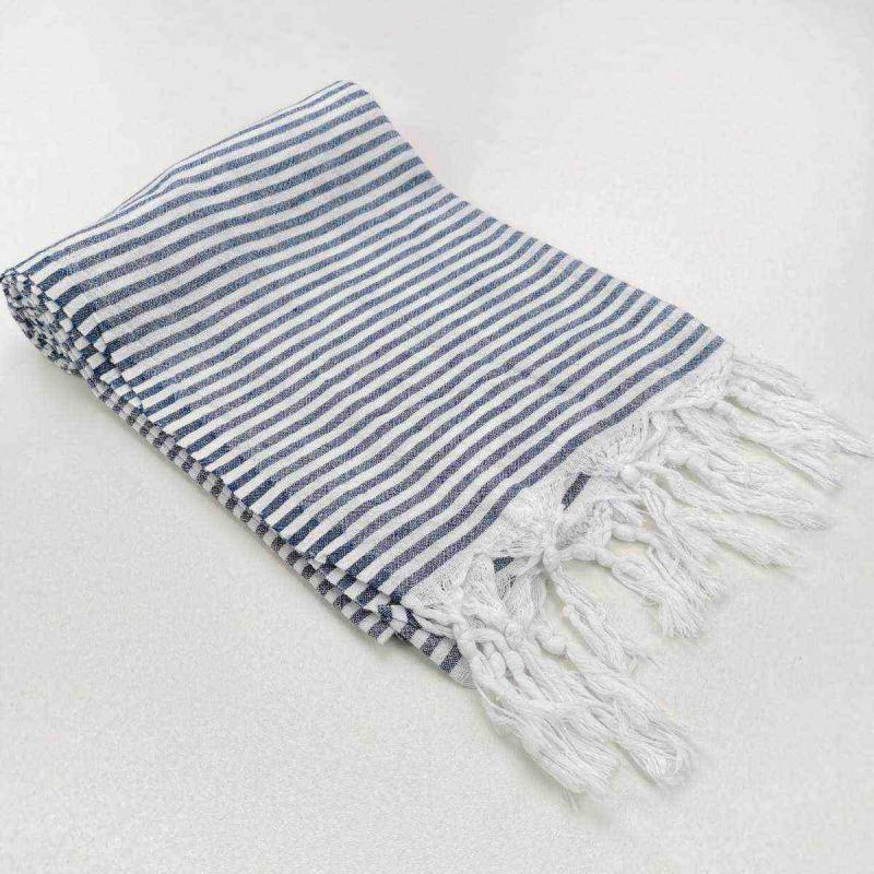 Hammam towel VALRAS PLAGE bleu marine