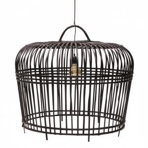 ByOn Lampskärm BOHO 54x54 Svart Bambu Lampa Belysning Inomhus