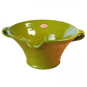 Limegrön stor handgjord spansk skål för t.ex. mat, frukt, sangria