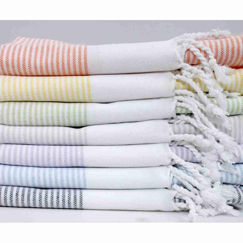 Small size cotton peshtemal Napoli 100x40 cm hand or hair towel