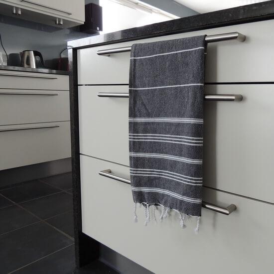 Small Size Turkish Towel Black Kitchen, Dish, Tea Towel, Guest Towel
