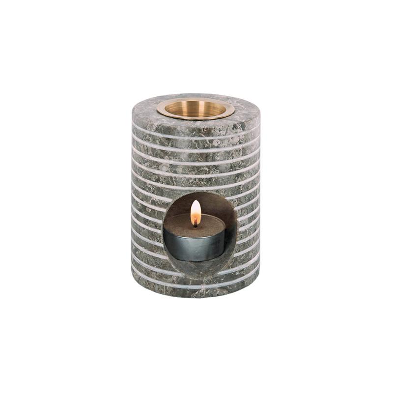 Ljuslykta för doftolja ROKO av marmor