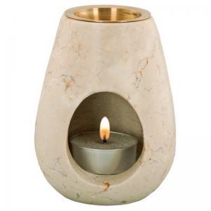 Ljuslykta för doftolja STONO Marmor