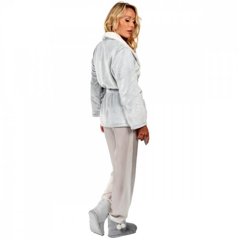 Slippers Sensoft MILADY silver grey