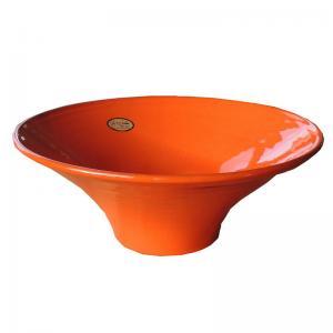 Orange stor handgjord spansk skål för t.ex. mat, frukt eller sangria