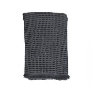 Handduk - Pläd Dupduru Waffle 120x180 Charcoal Grey