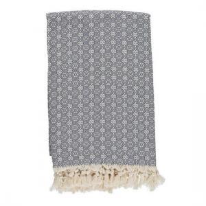 Pläd Överkast Babuska Charcoal Grey 150x220 cm 100% bomull