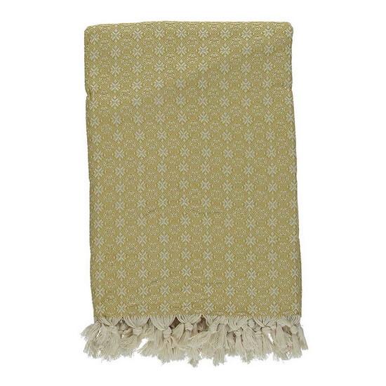 Throw Babuska Mustard 150x220 cm 100% Cotton