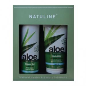 Prisvärd present set body milk & duschgel 100% organisk Aloe Vera och olivolja
