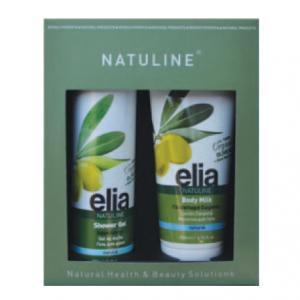 Prisvärd present set body milk & duschgel 100% organisk olivolja och Aloe Vera