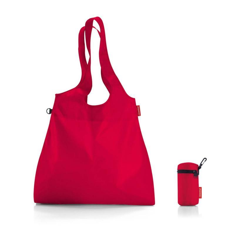 Set of 2 Mini maxi shopper L red