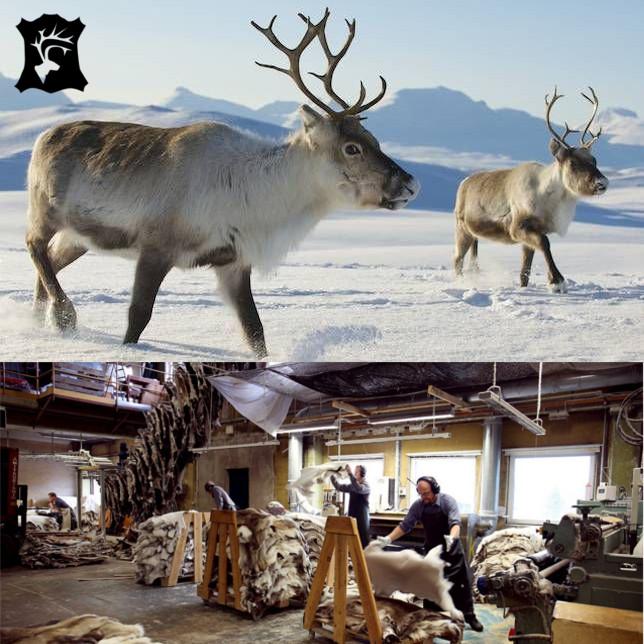 Sittdyna Stolsdyna av Renskinn från Kero Leather i Lappland