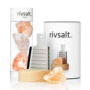 RIVSALT Refill förpackning med tre arter av Himalaya saltstenar