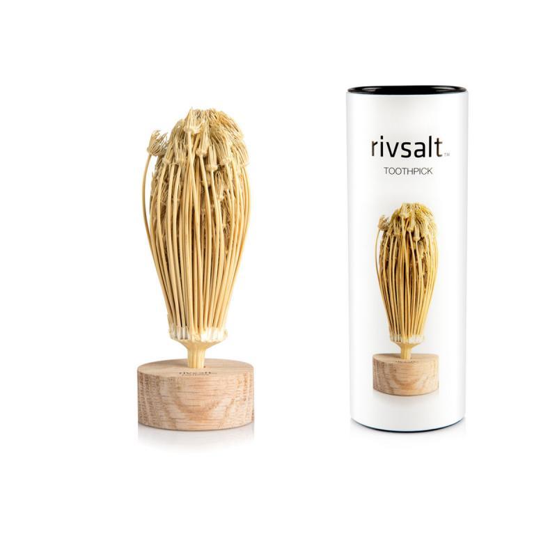 Gift set Rivsalt TOOTHPICK and a oak wood desk stand