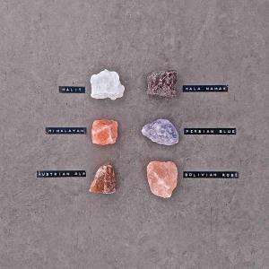 RIVSALT TASTE JR Refill med sex saltstenar från olika delar av världen