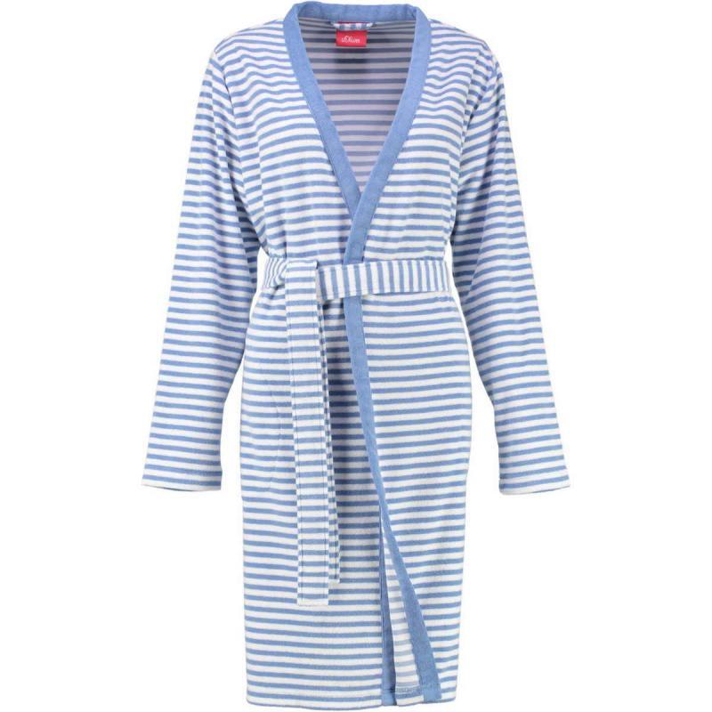 s.Oliver randig kimono badrock dam i frotté. 3712 10 denim