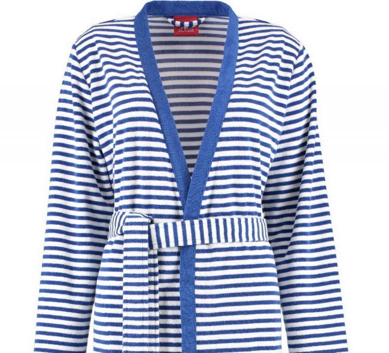 s.Oliver randig kimono badrock dam i frotté. 3712 16 Navy