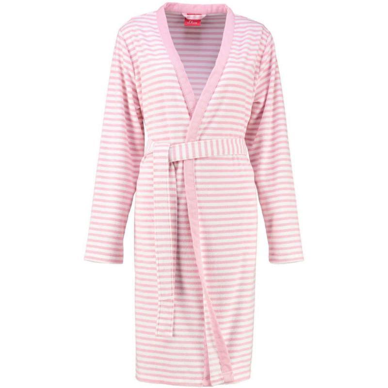 s.Oliver randig kimono badrock dam i frotté. 3712 20 Rosa