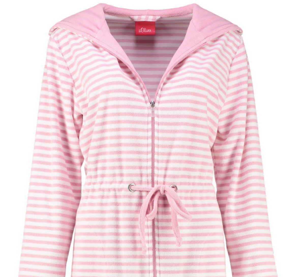 online store e35a2 2be2a s.Oliver women's hooded terry bathrobe 3713 20 pink