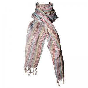 Handvävd scarf 55x185 cm 50% linne 50% bomull passar både dam & herr.