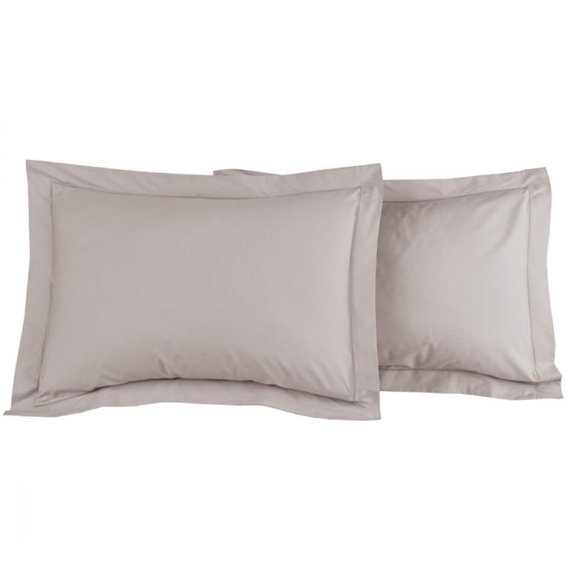 2 Pillowcase SENSEI SOFT Gris Perle