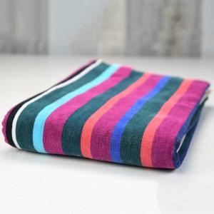 Beach towel BAYADERE striped Anthracite