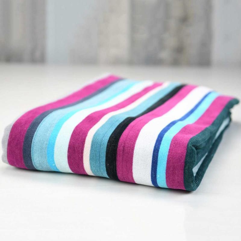 Beach towel BAYADERE striped bleu
