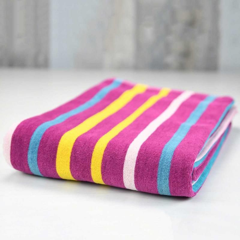 Beach towel BAYADERE striped Jaune