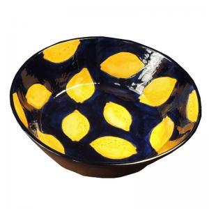 Handmålad dekorativ spansk keramik skål för t.ex. mat eller frukt