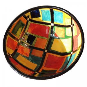 Handmålad dekorativ keramik skål för uppläggning t.ex. mat eller frukt