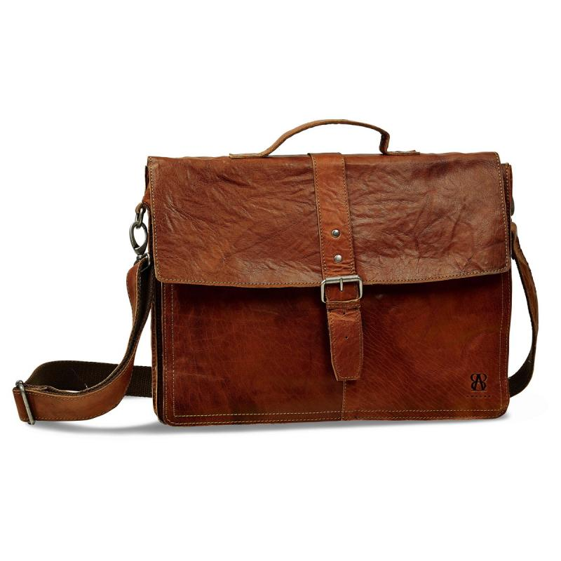 Exclusive Leather briefcase from B away. Men's classic model